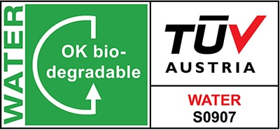 Labellisation OK Biodegradable Water TÜV Austria